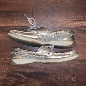 Speedy Topsider Metallic Boat Shoe in Size 10